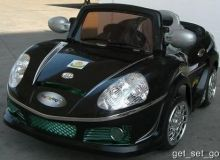 Crazy Convertible 6 Vt. Battery Powered Car With Remote & MP3 Black