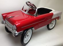 1955 Classic Red and White Pedal Car
