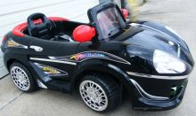 Crazy Convertible 6Vt. Battery Powered Car With Remote & MP3 Black/Red