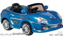 Crazy Convertible 6 Vt. Battery Powered Car With Remote and MP3 Blue