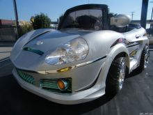 Crazy Convertible 6 Vt. Battery Powered Car with Remote & MP3 Silver