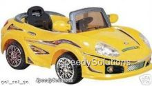 Crazy Convertible 6 Vt. Battery Powered Car With Remote & MP3 Yellow