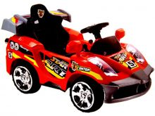 Mini Motos Star Car 6v Battery Powered Toy - Red (Remote Controlled)