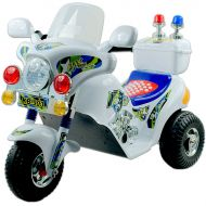 Lil' Rider? Battery Powered Police Motorcycle - White Ride On Toy