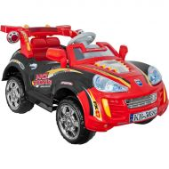 Lil' Rider? Battery Powered Sports Car w/ Remote - Blk/Red Ride On Toy