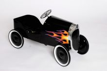 1934 Classic Pedal Car In Black With Flames