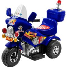 Lil' Rider Police Motorcycle - Blue Battery Powered Ride On Toy